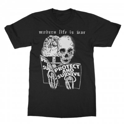 modern-life-is-war - Protect and Survive Tee (Black)
