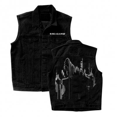 rise-against - We Are The Wolves Custom Denim Vest