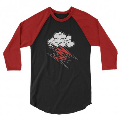 the-hellacopters - Cloud Raglan (Black/Red)