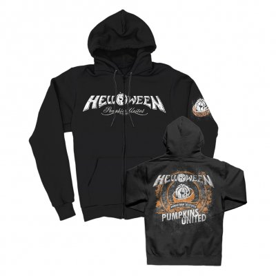 helloween - Pumpkins United Zip Up Hoodie (Black)