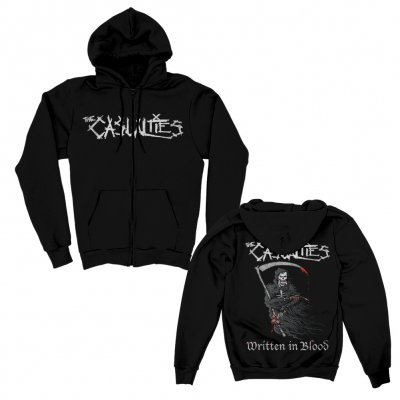 the-casualties - Written in Blood Zip Up Hoodie (Black)