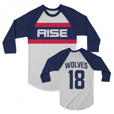 rise-against - Classic Baseball Raglan (White/Blue)