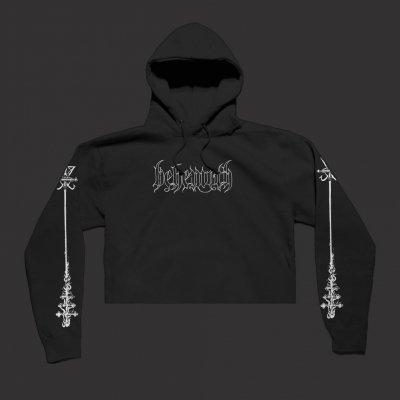 behemoth - Crucifix Women's Crop Top Sweatshirt (Black)