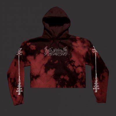 behemoth - Crucifix Women's Crop Top Sweatshirt (Bloodlet)