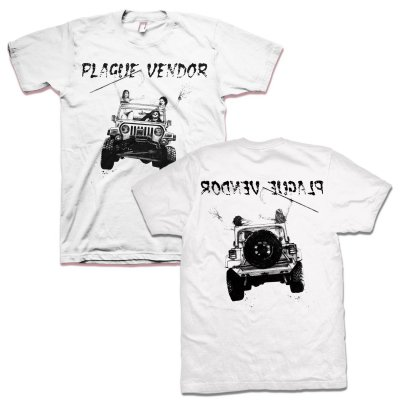 plague-vendor - Grim Jeeper T-Shirt (White)