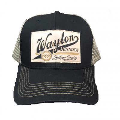 waylon-jennings - Patch Trucker Hat OSFA