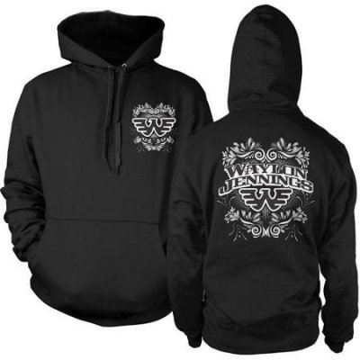 waylon-jennings - Philigree Pullover Hoodie (Black)