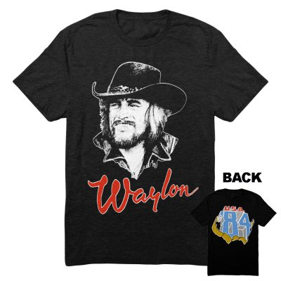 waylon-jennings - Draw 84 Tee (Black)