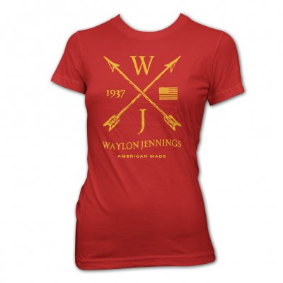 waylon-jennings - Arrows Womans Tee