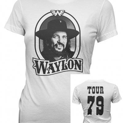 waylon-jennings - WJ 79 Juniors tee (White)