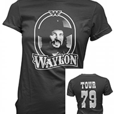 waylon-jennings - WJ 79 Juniors Tee (Black)