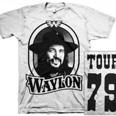 waylon-jennings - Waylon 79 Tee White