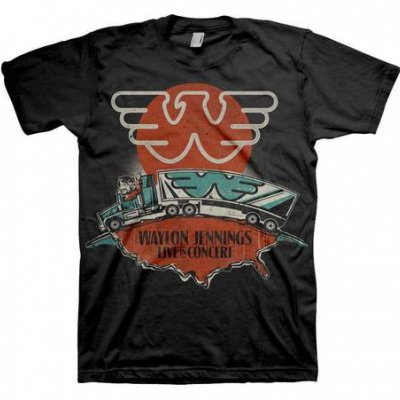 waylon-jennings - Live in Concert Tee (Black)