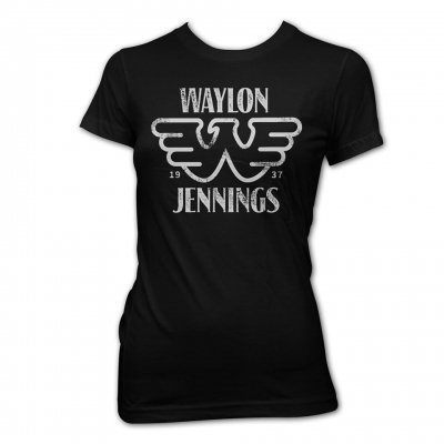 waylon-jennings - Flying W Women's Tee (Black)