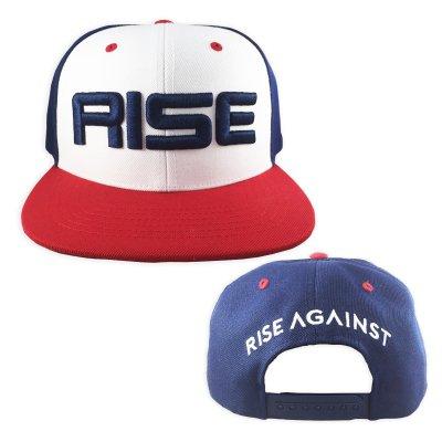 f5d60c8e rise-against - Classic Baseball Snapback Hat (Blue/White)