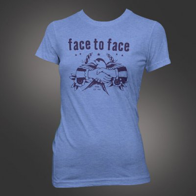 face-to-face - Sparrow Women's Tee (Blue)