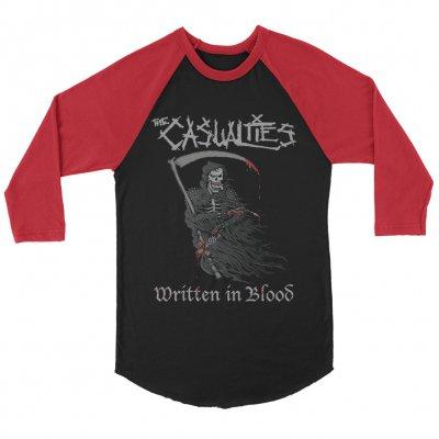 the-casualties - Written in Blood Raglan (Black/Red)