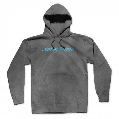 moose-blood - Acid Wash OE Logo Pullover Hoodie (Grey)