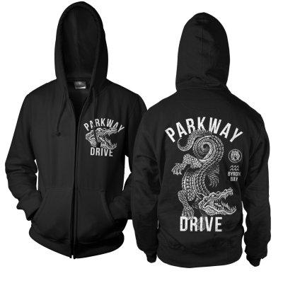 parkway-drive - Croc Zip-Up Hoodie (Black)
