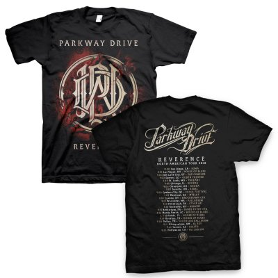 parkway-drive - Reverence Monogram US Tour Tee (Black)