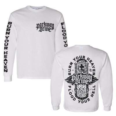 parkway-drive - Burn Your Heaven Long Sleeve (White)