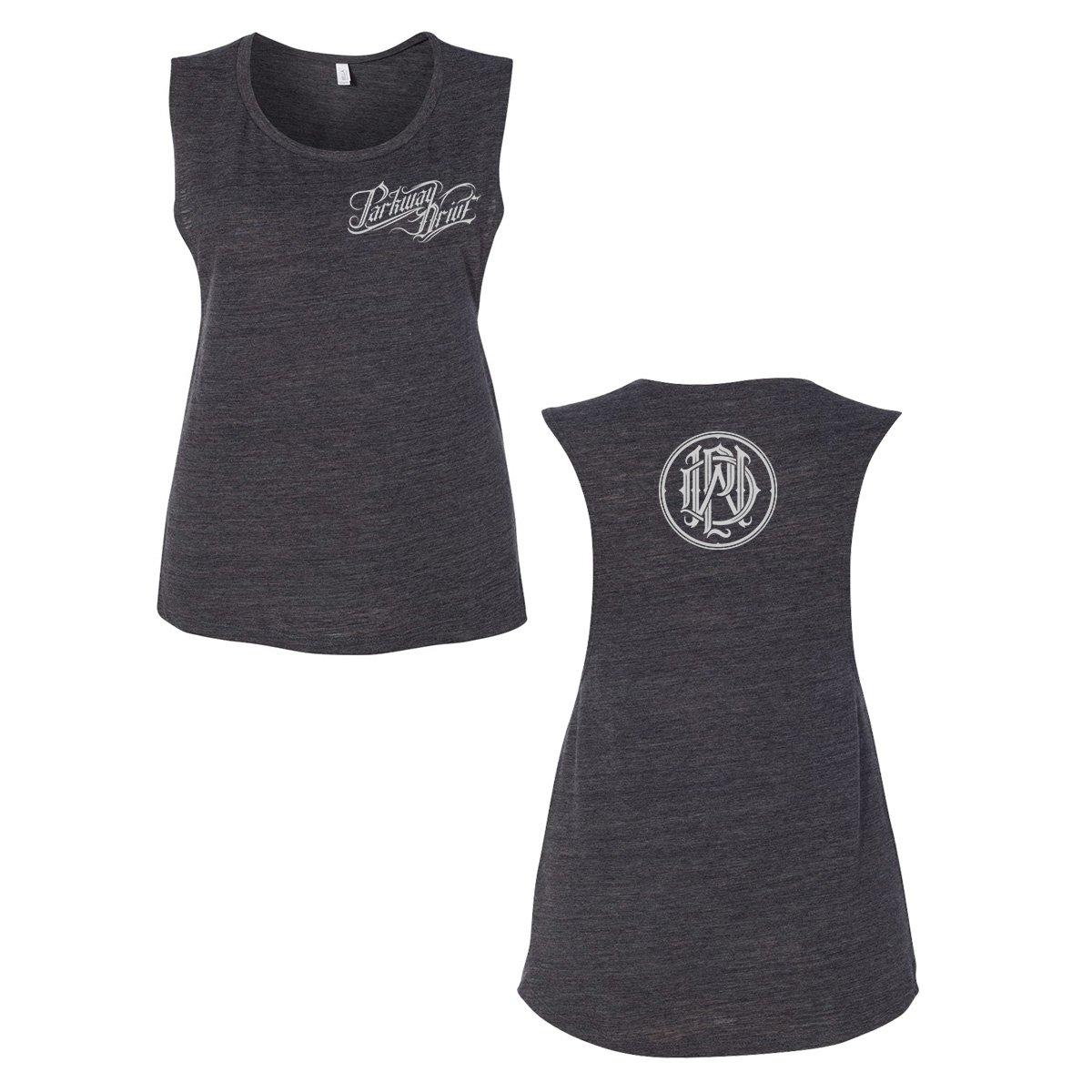 IMAGE | Reverence Logo Monogram Women's Tank Top (Grey)