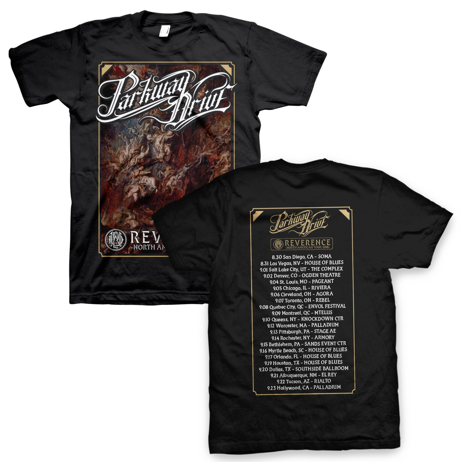 IMAGE   Reverence US Tour Poster Tee (Black)