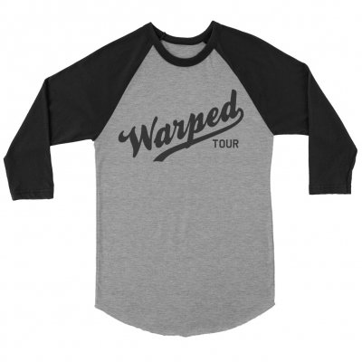 vans-warped-tour - Warped Tour Baseball Logo Raglan (Grey/Black)
