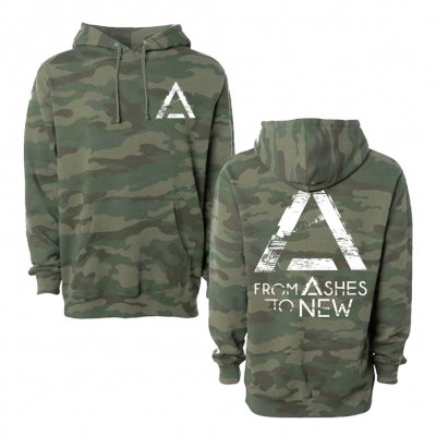 from-ashes-to-new - Grunge Logo Pullover Hoodie (Camo)
