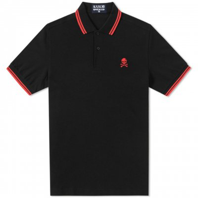 rancid - D Skull Embroidered Polo (Black)