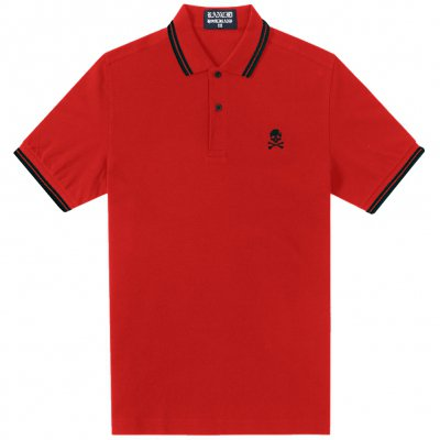 rancid - D Skull Embroidered Polo (Red)