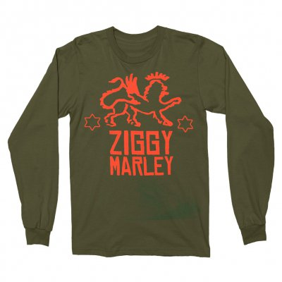 ziggy-marley - Lion Stars Logo Long Sleeve T-Shirt