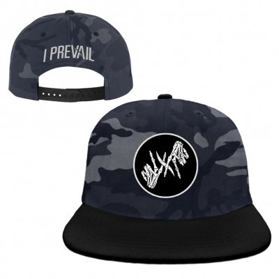 i-prevail - Skele Hands Patch Snapback (Night Camo)