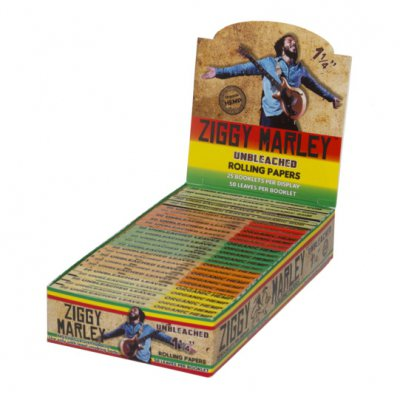 "ziggy-marley - Organic Hemp Rolling Papers – 1 1/4"" - 1 Pack (50"