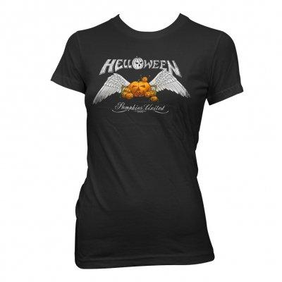 helloween - Angel Wings Women's T-Shirt (Black)