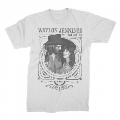 waylon-jennings - Good Timin' Tee (White)
