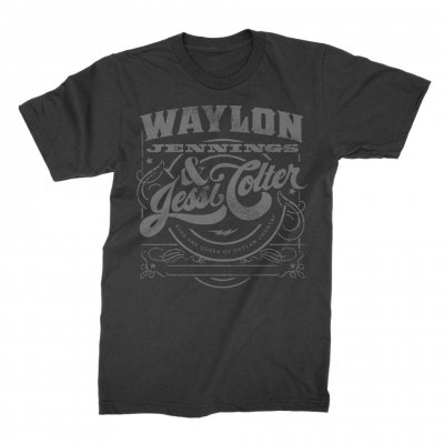 waylon-jennings - King & Queen Tee (Black)