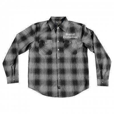 social-distortion - Logo Flannel (Grey Plaid)