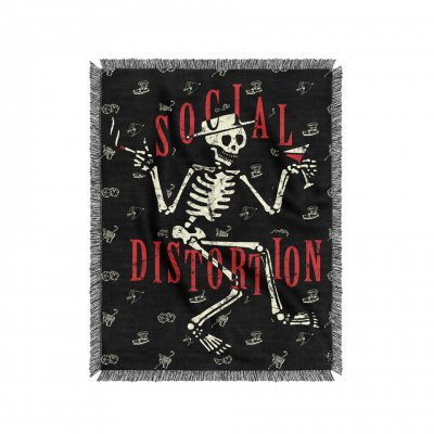 social-distortion - Skelly Woven Blanket (50 x 60)