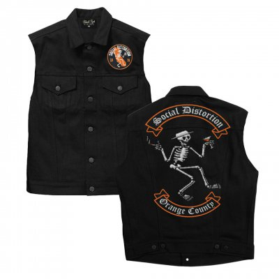 social-distortion - OC Denim Vest (Black Denim)