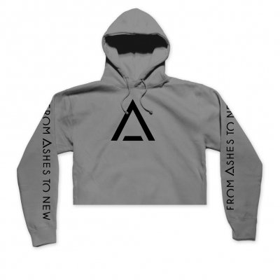 from-ashes-to-new - A Logo Women's Crop Hoodie (Grey)