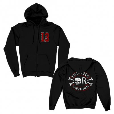 backyard-babies - 13 Nothing Zip Up Hoodie (Black)
