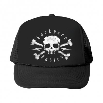backyard-babies - Skull Trucker Hat (Black)