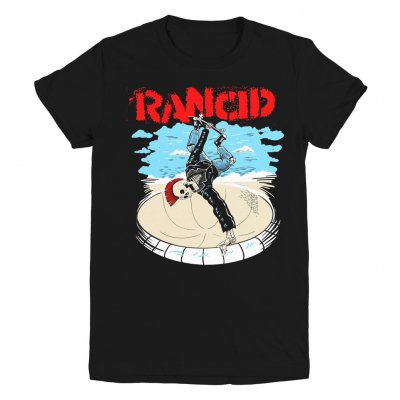 rancid - Skate Skele-tim Womens T-Shirt (Black)