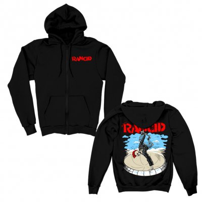rancid - Skate Skele-Tim Zip Up Hoodie (Black)