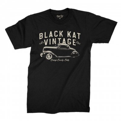 black-kat-kustoms - Vintage Orange County Tee (Black)