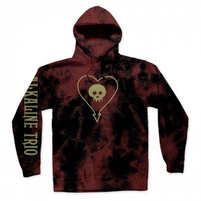 alkaline-trio - Heartskull Pullover Hoodie (Blood Dye)