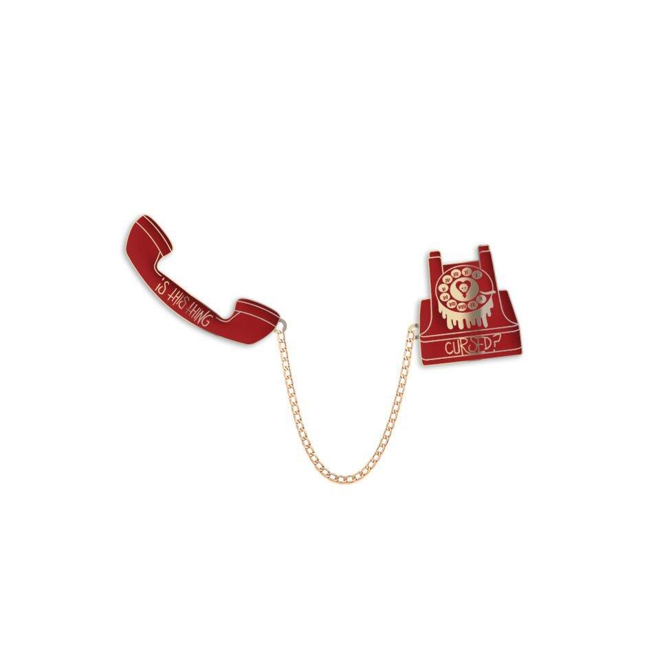 IMAGE   Phone Enamel Pin