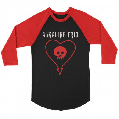 alkaline-trio - Classic Heartskull Raglan (Black/Red)