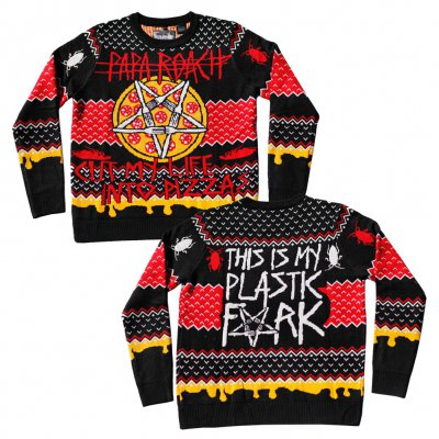 papa-roach - Holiday Pizza Sweater
